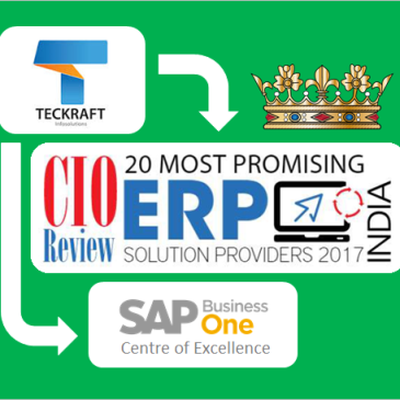 CIO Review (ERP Special Issue, Nov-2017): Teckraft among India's 20 Most Promising ERP Service Providers for 2017