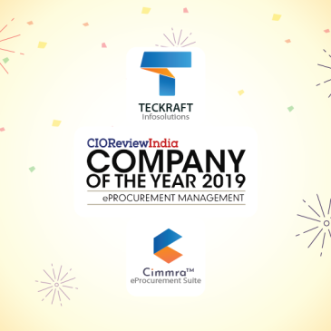 Cimmra makes Teckraft Company of the Year 2019 for eProcurement Management again: CIO Review India